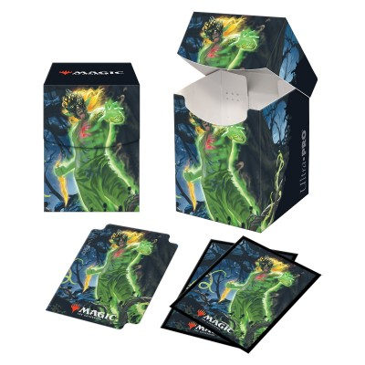 Boites de rangement illustrées Magic the Gathering Renaissance de Zendikar - Deck Box 100+ avec sleeves - V1