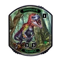 Relic Tokens Magic the Gathering Lineage collection - Dinosaur (trample)