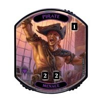 Relic Tokens Magic the Gathering Lineage collection - Pirate (menace)