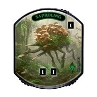 Relic Tokens Magic the Gathering Lineage collection - Saproling FOIL