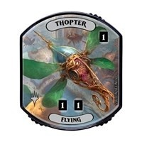 Relic Tokens Magic the Gathering Lineage collection - Thopter (flying) FOIL