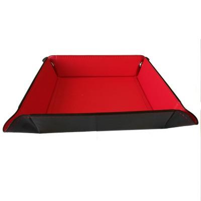 Dés  Plateau pour Dés - 22cm x 22cm - Intérieur Rouge (Vide)