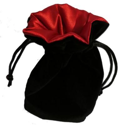 Dés  Sac à Dés - 15cm x 10cm - Intérieur Rouge (Vide)