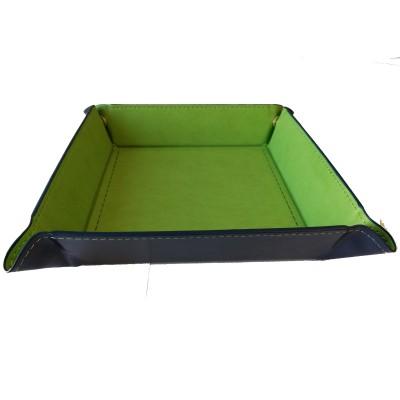 Dés  Plateau pour Dés - 22cm x 22cm - Intérieur Vert (Vide)