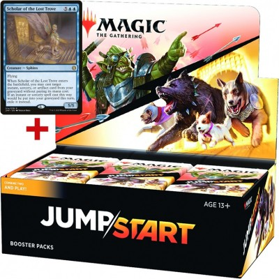 Boite de Boosters Magic the Gathering Jumpstart - 24 Draft Boosters + Carte Buy a Box Scholar of the Lost Trove