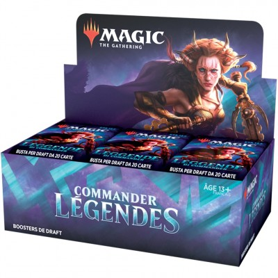 Boite de Boosters Magic the Gathering Commander Légendes - 24 Boosters de draft