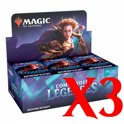 Boite de Boosters Magic the Gathering Commander Légendes - Lot de 3