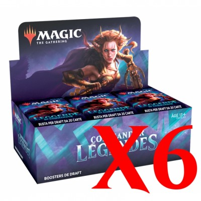 Boite de Boosters Magic the Gathering Commander Légendes - Lot de 6