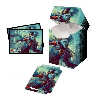 Boite de rangement illustrée Magic the Gathering Commander Legends - Deck Box 100+ avec sleeves - V1 - Sakashima of a Thousand Faces