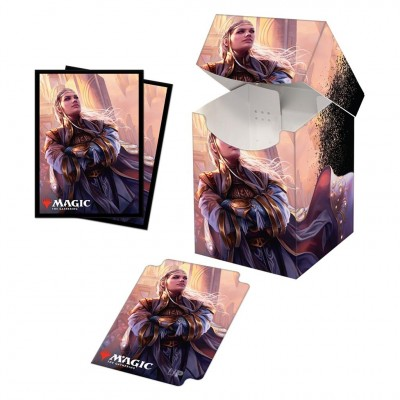 Boite de rangement illustrée Magic the Gathering Commander Legends - Deck Box 100+ avec sleeves - V6 - Rebbec, Architect of Ascension