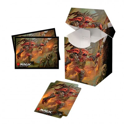 Boite de rangement illustrée Magic the Gathering Commander Legendes - Deck Box 100+ avec sleeves - V5 - Rograkh, Son of Rohgahh