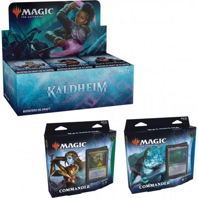 Offres Spéciales Magic the Gathering Kaldheim - Super Pack : Boite VF + 2 Decks Commander VF