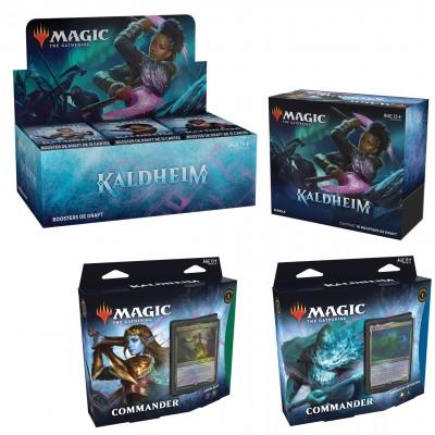 Offres Spéciales Magic the Gathering Kaldheim - Mega Pack : Boite VF + 2 Decks Commander VF + Bundle VF