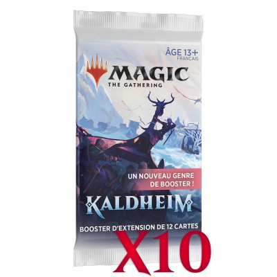 Booster Magic the Gathering Kaldheim - Booster d'extension - Lot de 10