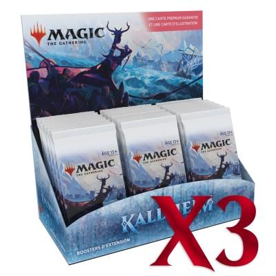 Boite de Boosters Magic the Gathering Kaldheim - 30 Boosters d'Extension - Lot de 3