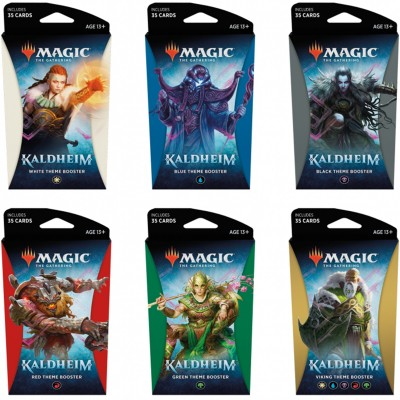 Booster Magic the Gathering Kaldheim - Themes Boosters - Lot de 6