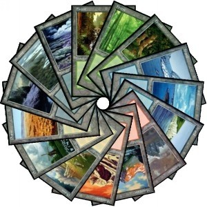 Collection Complète Magic the Gathering Euro Lands - Set Complet