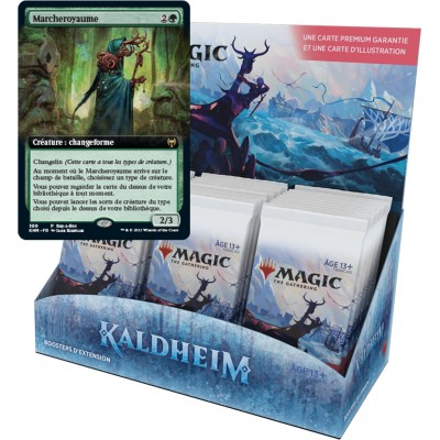 Boite de Boosters Magic the Gathering Kaldheim - 30 Boosters d'Extension + Carte Buy a Box Marcheroyaume