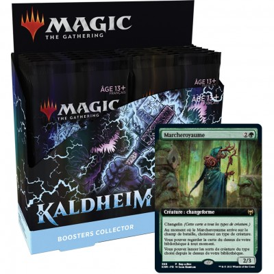 Boite de Boosters Magic the Gathering Kaldheim - 12 Boosters Collector + Carte Buy a Box Marcheroyaume