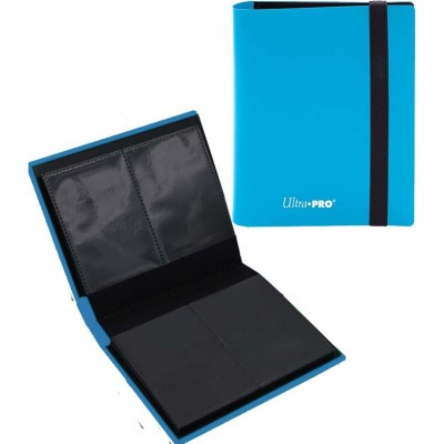 Portfolio  A6 Pro-Binder - Eclipse- 20 pages de 4 cases (80 cartes recto-verso) - Sky Blue