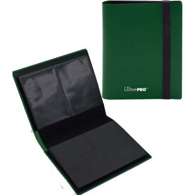 Portfolio  A6 Pro-Binder - ECLIPSE - 20 pages de 2 cases (80 cartes recto-verso) - Forest Green