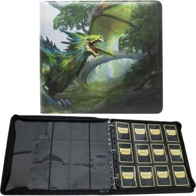 Classeur et Feuilles  Card Codex Zipster XL - Classeur 12 Cases - Olive Lavom