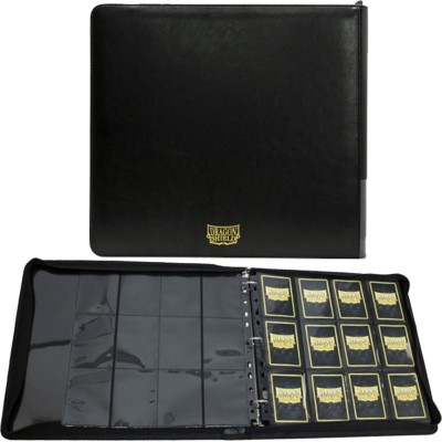 Classeur et Feuilles  Card Codex Zipster XL- Classeur 12 Cases - Black