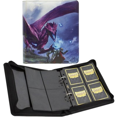 Classeur et Feuilles  Card Codex Zipster XL- Classeur 8 Cases - Small Purple Amifist