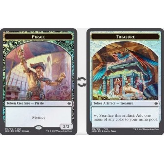 Token Magic Ixalan - Jeton FOIL double face : Pirate / Trésor