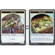 Token Magic Magic the Gathering Ixalan - Jeton FOIL double face : Vampire / Trésor
