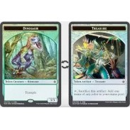 Token Magic Magic the Gathering Ixalan - Jeton FOIL double face : Dinosaure / Tresor