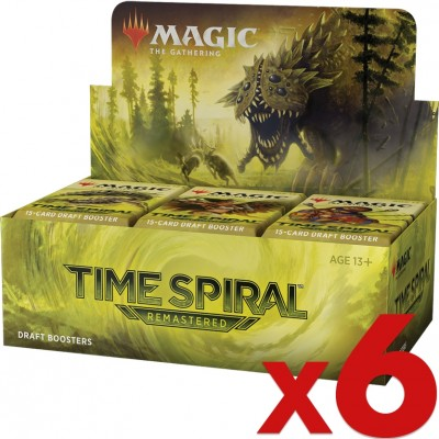 Boite de Boosters Magic the Gathering Time Spiral Remastered - 36 Boosters de Draft - Lot de 6