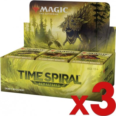 Boite de Boosters Magic the Gathering Time Spiral Remastered - 36 Boosters de Draft - Lot de 3