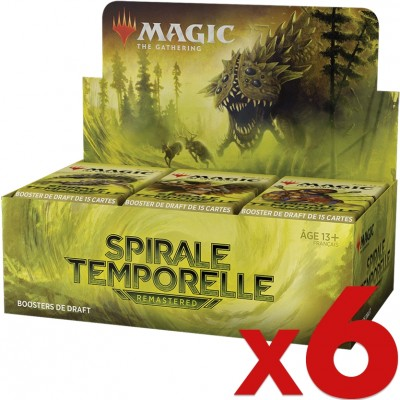 Boite de Boosters Magic the Gathering Spirale Temporelle Remastered - 36 Boosters de Draft - Lot de 6