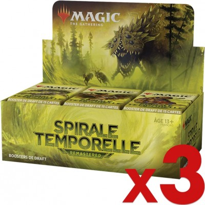 Boite de Boosters Magic the Gathering Spirale Temporelle Remastered - 36 Boosters de Draft - Lot de 3