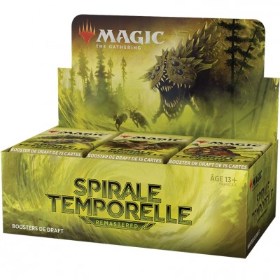 Boite de Boosters Magic the Gathering Spirale Temporelle Remastered - 36 Boosters de Draft