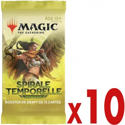 Booster Magic the Gathering Spirale Temporelle Remastered - Booster de Draft - Lot de 10