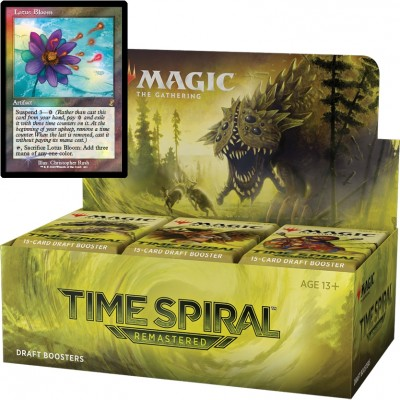 Boite de Boosters Magic the Gathering Time Spiral Remastered - 36 Boosters de Draft + Carte Buy a Box Lotus Bloom