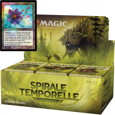 Boite de Boosters Magic the Gathering Spirale Temporelle Remastered - 36 Boosters de Draft + Carte Buy a Box Lotus Bloom