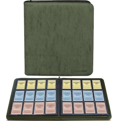 Portfolio  COLLECTION SUEDE Premium - 20 pages de 12 cases (480 cartes recto-verso) - Emerald (Vert)