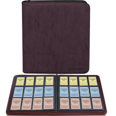Portfolio COLLECTION SUEDE Premium - 20 pages de 12 cases (480 cartes recto-verso) - Amethyst (Marron)