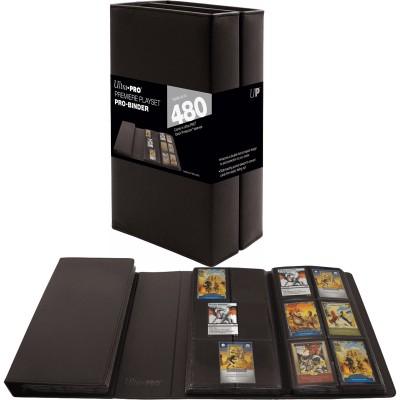 Portfolio  Playset Pro-Binder - 40 pages de 12 cases (480 cartes recto-verso) - Noir