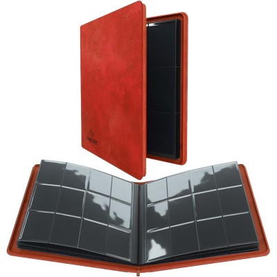 Portfolio  Album ZIP - 20 pages de 12 cases (480 cartes recto-verso) - Rouge