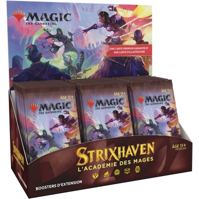 Boite de Boosters Magic the Gathering Strixhaven : l'Académie des Mages - 30 Boosters d'Extension