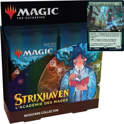 Boite de Boosters Magic the Gathering Strixhaven : l'Académie des Mages - 12 Boosters Collector + Carte Buy a Box