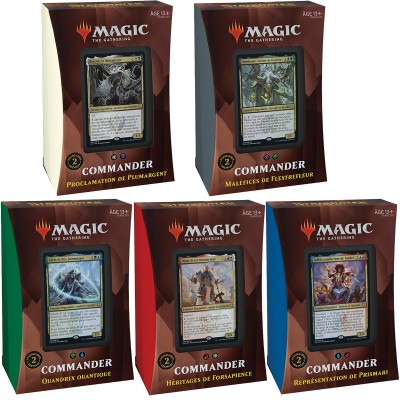 Deck Magic the Gathering Strixhaven : l'Académie des Mages - Commander - Lot de 5 différents