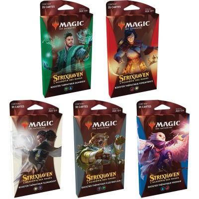 Booster Magic the Gathering Strixhaven : l'Académie des Mages - Boosters Thématiques - Lot de 5