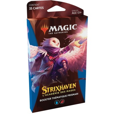 Booster Magic the Gathering Strixhaven : l'Académie des Mages - Booster Thématique Prismari- Bleu / Rouge