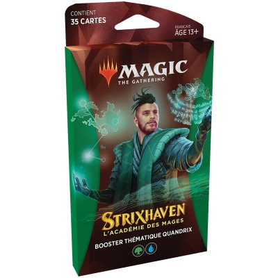 Booster Magic the Gathering Strixhaven : l'Académie des Mages - Booster Thématique Quandrix - Vert / Bleu