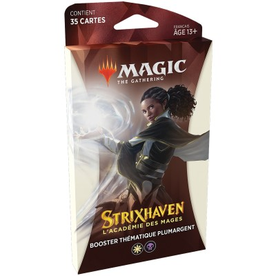Booster Magic the Gathering Strixhaven : l'Académie des Mages - Booster Thématique Plumargent - Blanc / Noir